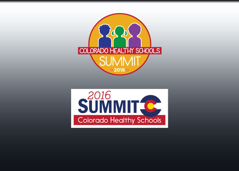 Colorado Healthy Schools Summit logo designs